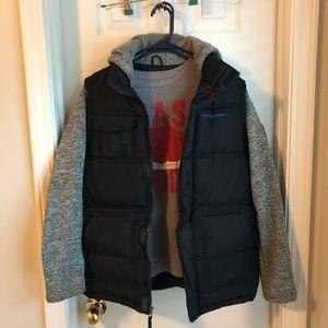 Boys' Heavy Winter Coat with free T-shirt